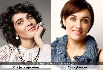 Стеффи Аргелич(модель) и Лика Длугач(телеведущая)
