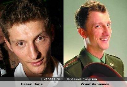 Павел Воля и Игнат Акрачков похожи.