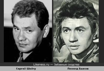 Сергей Шойгу и актёр Леонид Быков похожи