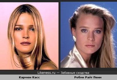 "модель Кармен Касс и актриса Робин Райт (""Санта-Барбара"")похожи"