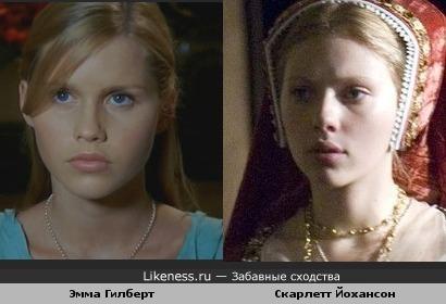 """Девочка в роли Русалки(""""H2O Просто добавь воды"""")и Ск.Йохансон:по-моему,похожи"""