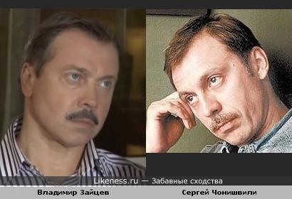 Владимир Зайцев и Сергей Чонишвили похожи