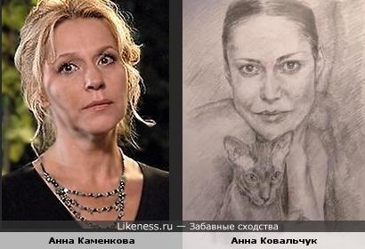 Портрет Анны Ковальчук напомнил Анну Каменкову
