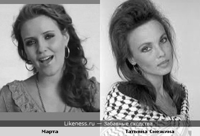Певица Марта и Татьяна Снежина