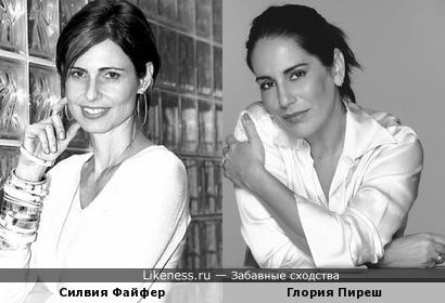 Силвия Файфер и Глория Пиреш:всё время путала этих бразильских актрис...