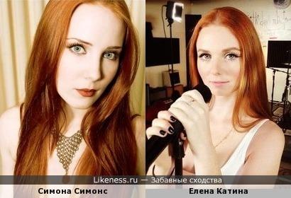 Симона Симонс из Epic и Елена Катина (экс-T.A.T.U.) походят, но Катина миловиднее :)