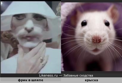 фрик из клипа Фредди Меркури напомнил крыску