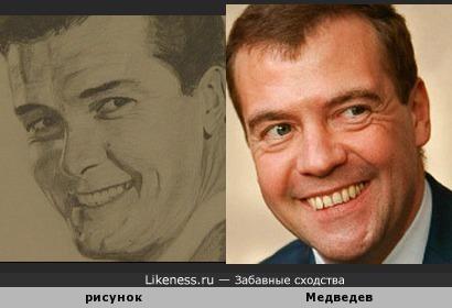Мужчина на рисунке напомнил Дмитрия Медведев