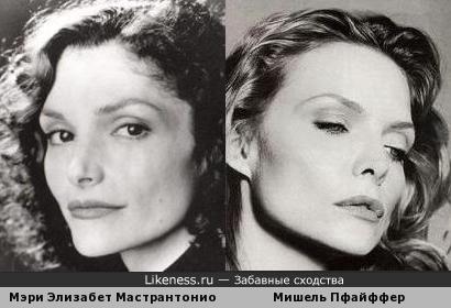 Мэри Элизабет Мастрантонио и Мишель Пфайффер