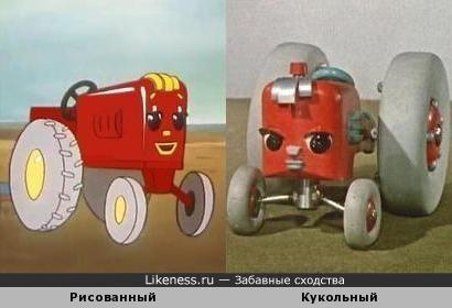 Главный персонаж мультфильма «Мы такие мастера» (1963) похож на героя мультфильма «Новичок» (1961)