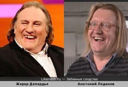 Жерар Депардье и Анатолий Леденев