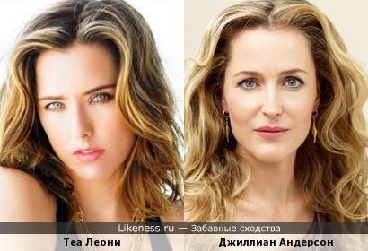 Теа Леони похожа на Джиллиан Андерсон