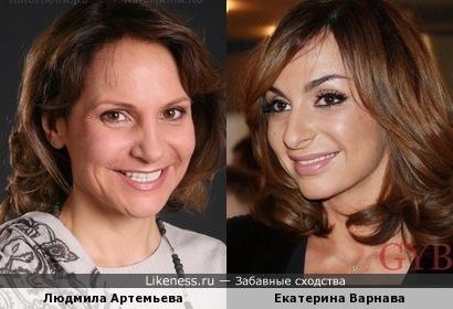 Людмила Артемьева и Екатерина Варнава
