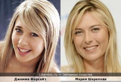 Мария Шарапова и Джемма Форсайт
