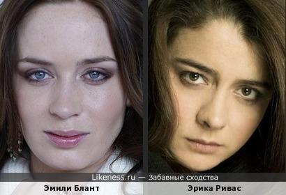 Эмили Блант и Эрика Ривас