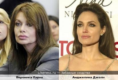 Вероника Ларио (экс-супруга Берлускони) стала похожа на Джоли