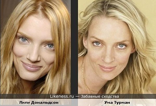 Модель Лили Дональдсон похожа на Уму Турман