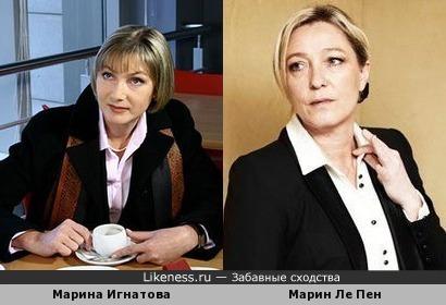 Марина Игнатова, Марин Ле Пен