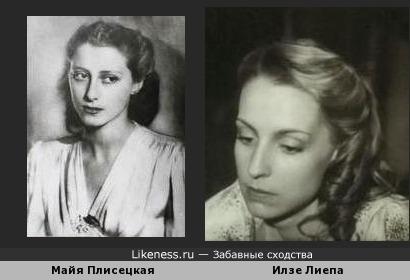 Илзе Лиепа похожа на Майю Плисецкую