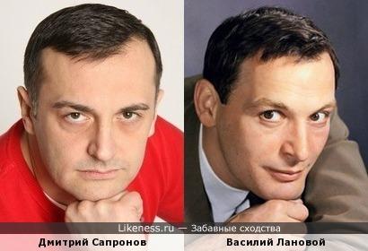 Дмитрий Сапронов похож на Василия Ланового