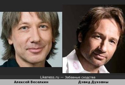 Алексей Веселкин похож на Дэвида Духовны