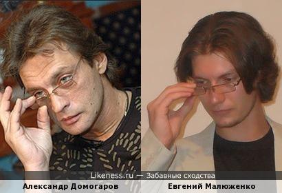 Александр Домогаров и Евгений Малюженко, даже очень похожи!