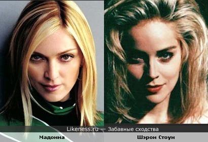 Мадонна и Шэрон Стоун похожи