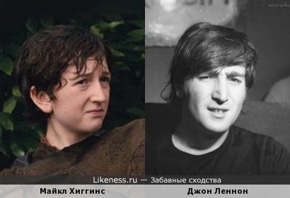 Молодой актер Майкл Хиггинс похож на Джона Леннона