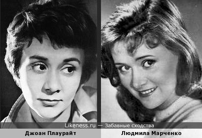 Джоан Плаурайт похожа на нашу Людмилу Марченко
