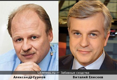 Виталий Елисеев и Александр Гурнов похожи