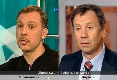 актёр Чонишвили похож на политика Маркова