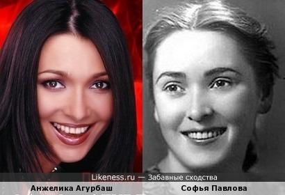 Анжелика Агурбаш похожа на Софью Павлову