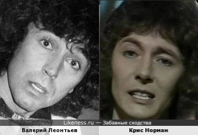 Валерий Леонтьев и Крис Норман