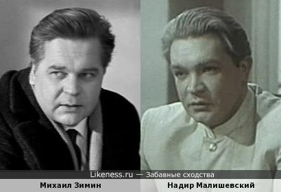 Михаил Зимин и Надир Малишевский похожи!