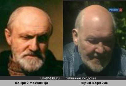Юрий Карякин и Хенрик Махалица