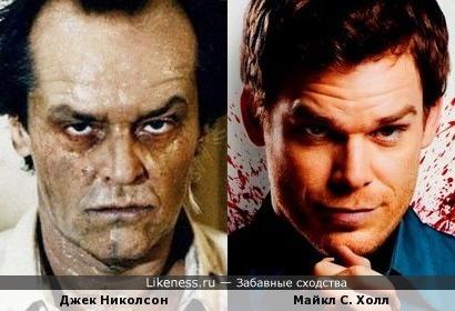 Майкл Холл и Джек Николсон.