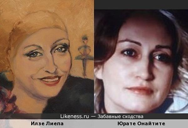 Художник Натан писал портрет не с Илзе Лиепа, а с Юрате Онайтите,