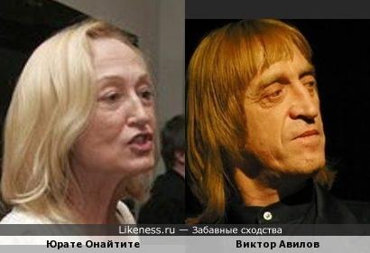 Юрате Онайтите и Виктор Авилов похожи