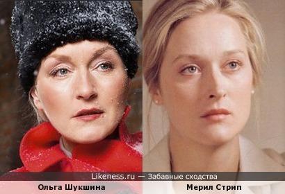Ольга Шукшина и Мерил Стрип