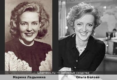 Телеведущая Ольга Белова похожа на советскую кинозвезду Марину Ладынину