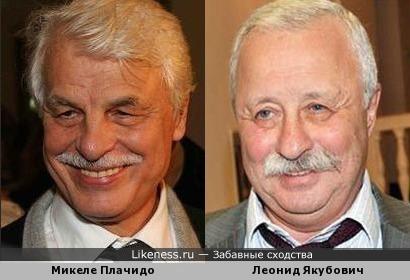 Леонид Якубович и Микеле Плачидо-вижу сходство.