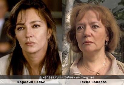 Елена Санаева и Каролин Селье