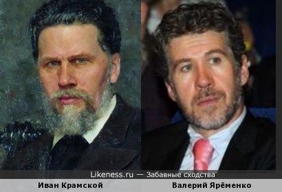 И,Н. Крамской на портрете И.Е.Репина и актёр Валерий Ярёменко.