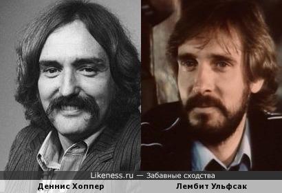 Деннис Хоппер и Лембит Ульфсак