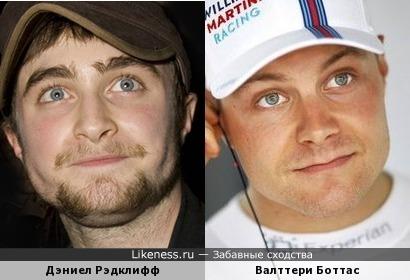 Финский автогонщик Валттери Боттас на этом фото из работы Iranika похож на британского актёра Дэниэла Рэдклиффа