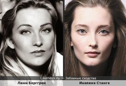 Эпатажная модель Икелине Станге и солистка Ace of Base Линн Берггрен
