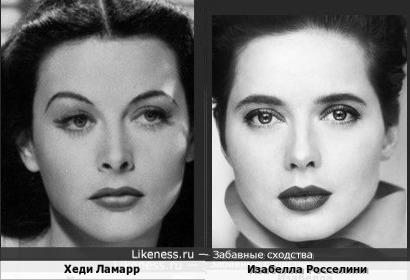 Хеди Ламарр и Изабелла Росселини