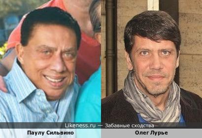 Российский журналист Олег Лурье и бразильский комедийный актёр Паулу Сильвино