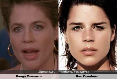 Линда Хэмилтон похожа на Нив Кэмпбелл