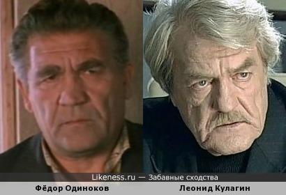 Фёдор Одиноков и Леонид Кулагин похожи